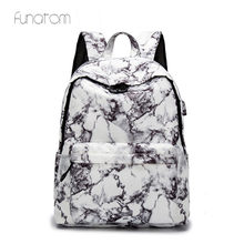 15.6 inch Travel Marble Backpack Women Backpack for Teenager