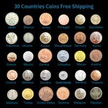 Набор 30 монет из 30 разных стран,, циркуляция выхода, коллекционная,, Азия Африка Америка Европа
