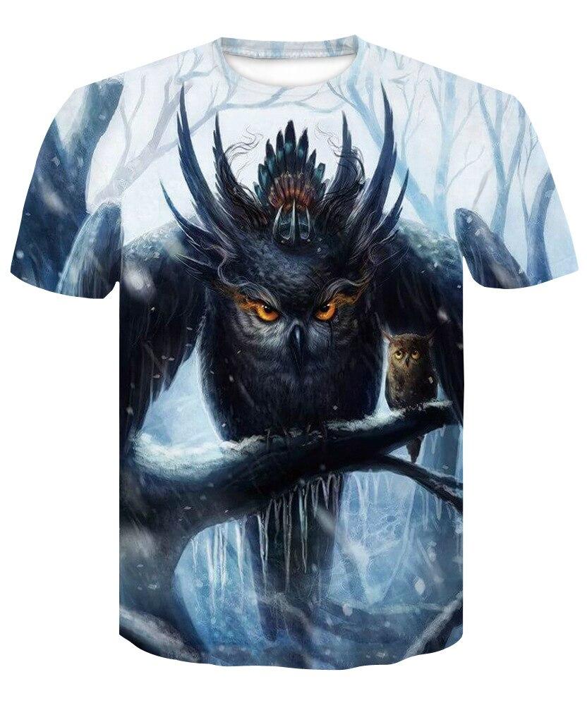 NEW Indians   T     Shirts   clown dog owl   T     Shirts   Summer Fashion Anime Tshirt 3D   T     Shirt   Mens Clothing Tops Tees