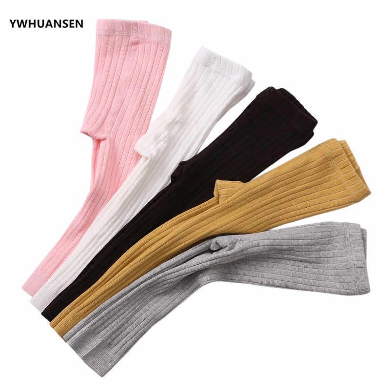 YWHUANSEN 0-6T ฤดูใบไม้ผลิฤดูใบไม้ร่วง Leggings เด็กวัยหัดเดินผ้าฝ้ายทารกแรกเกิดเด็ก Strumphose ถัก Skinny กางเกงทารก