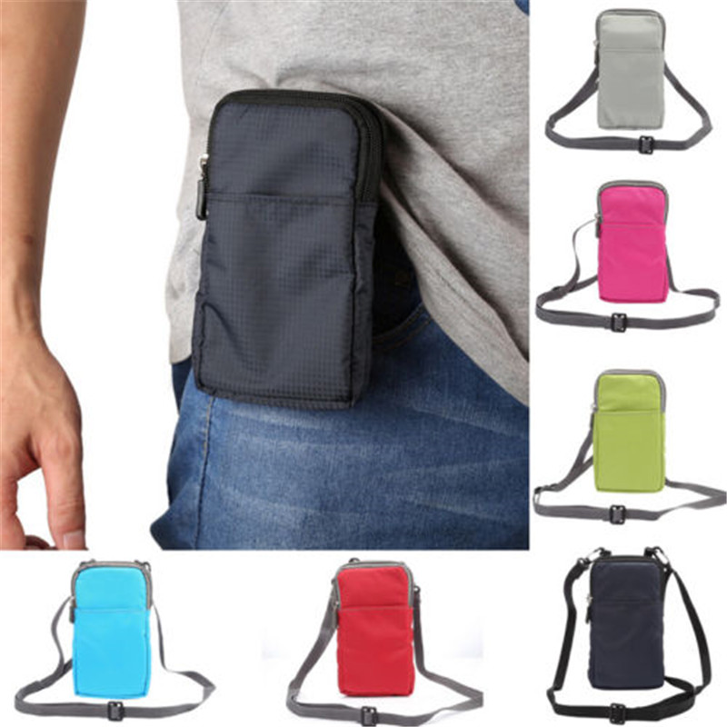 2019 Neue Unisex Casual Leinwand Crossbody Handy Schulter Tasche Kleine Tasche Fall Patchwork Messenger Taschen Verschiedene Stile