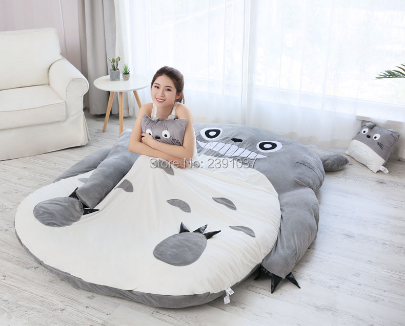Brand new 1.5x2m My Neighbor Totoro Tatami Sleeping Double Bed Beanbag Sofa For Audlt Warm Cartoon Tatami Sleeping Bag Mattress-in Bean Bag Sofas from Furniture on Aliexpress.com | Alibaba Group