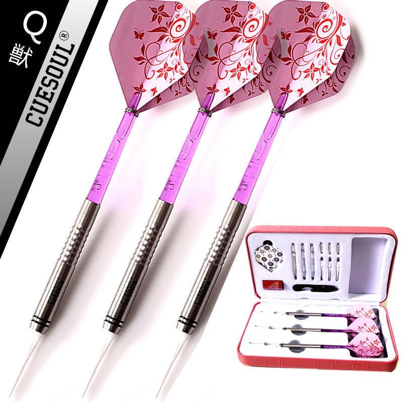 New CUESOUL 3PCS/set 90% Tungsten Dart Body18g 14.5cm Darts Professional Soft Darts Electronic Darts Pink FlightNew CUESOUL 3PCS/set 90% Tungsten Dart Body18g 14.5cm Darts Professional Soft Darts Electronic Darts Pink Flight
