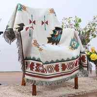Geometrie Decke Sofa Cobertor Hängende Tapestry für Sofa Bett Flugzeug Reise