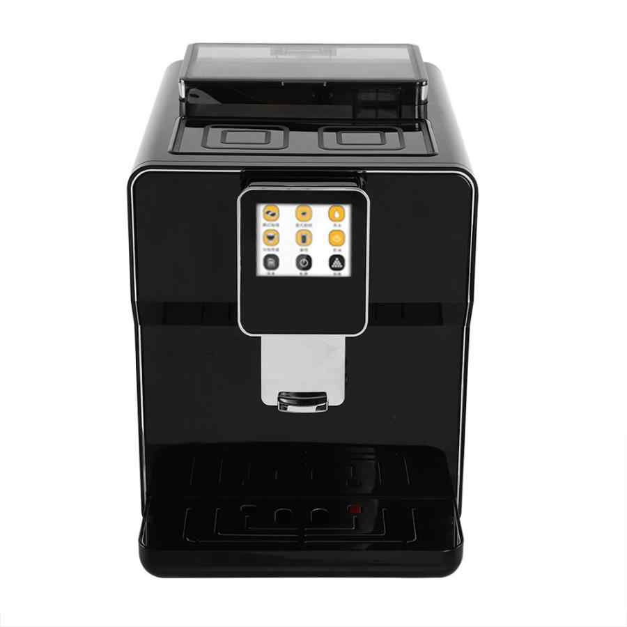 Автоматическая машина для приготовления кофе из нержавеющей стали 1700 мл Емкость резервуара для воды Коммерческая Кофеварка кухонная техника штепсельная вилка европейского стандарта США