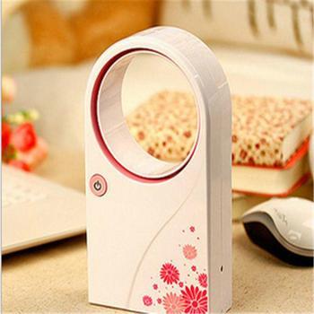 Portable USB No Leaf Fan Mini Bladeless Refrigeration Desktop Air Conditioner  Noiseless Home Office Cooler Fan  Wholesale 兩 段 式 迷你 摺疊 電 風扇