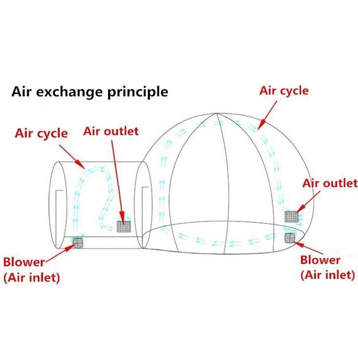 3/4/5 m 10/13/16ft Camping en plein Air tente à bulles gonflable grande maison bricolage dôme Camping cabine Lodge bulle d'air tente transparente - 5