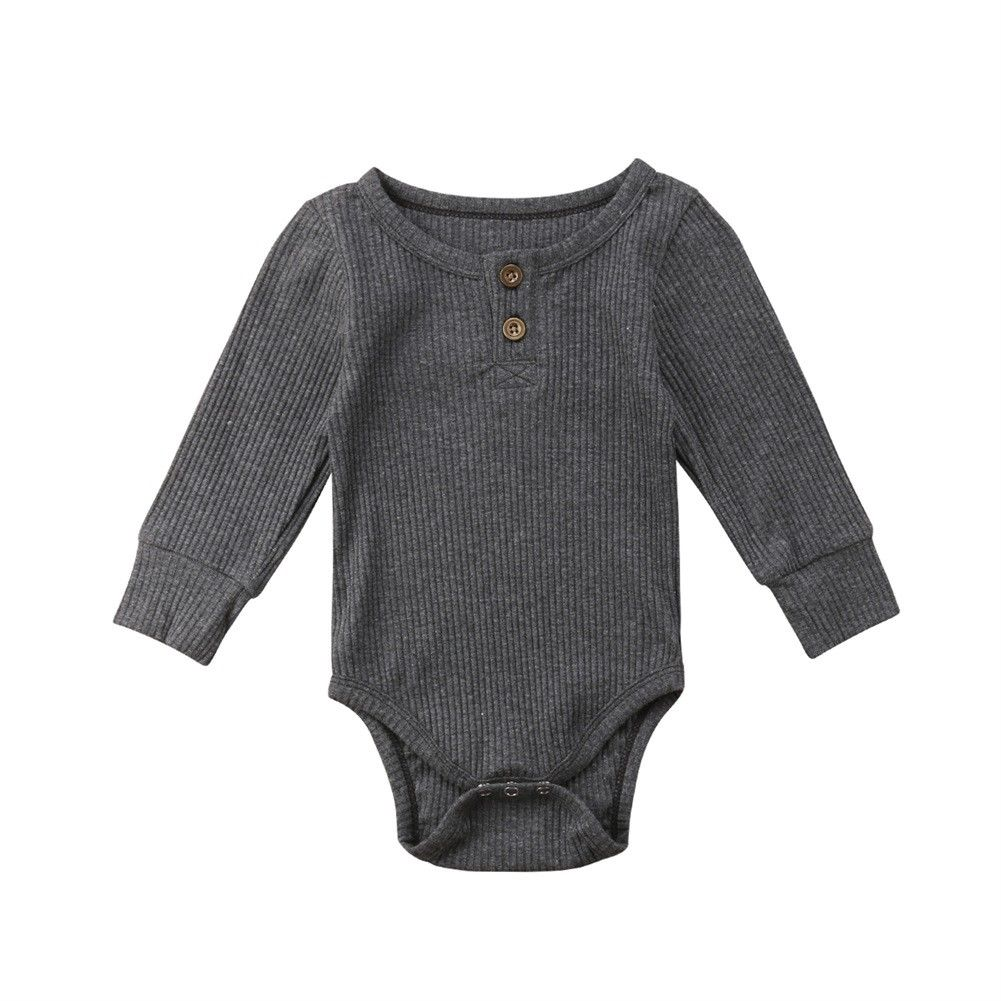 Black Colors of Rainbow Newborn Baby Boy Girl Romper Infant Long Sleeve Covered Button Jumpsuit Outfits Size 0-6Months