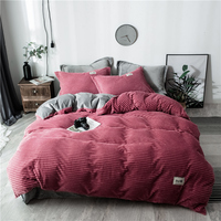 Bedding Sets 3/4pcs Duvet Cover Bed Sheet Pillow Cover Polyester Autumn Winter thickening Warm Home Textile Soft and comfortable