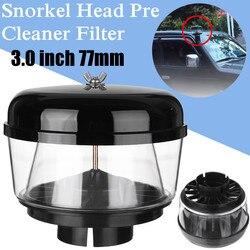 3 Cal 77mm pułapka wodna Snorkel głowy powietrza Ram głowy Pre Cleaner przepływu powietrza samochód Snorkel głowy Snorkel Ram kubek na piasek dla Toyota Nissans w Wloty powietrza od Samochody i motocykle na