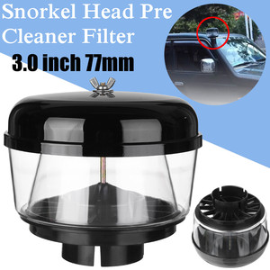 3 Inch 77mm Water Trap Snorkel Head Air Ram Head Pre Cleaner Air Flow Car Snorkel Head Snorkel Ram Sand Cup For Toyota Nissans(China)