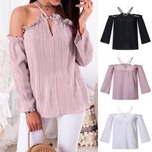 Women's Clothing Gwirpte Off Shoulder Lace Up Summer Shirts Lantern Sleeve Women Hollow Out Blouse Sexy Holiday Blusas Ladies Camisa Blusa High Quality And Inexpensive