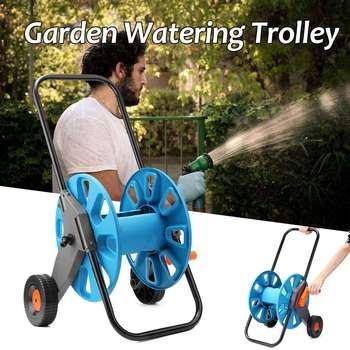 Portable Garden Water Hose Rack Garden Watering Trolley Washing Truck Hose For Car Waterpipe Cart Storage Car Washer Tool