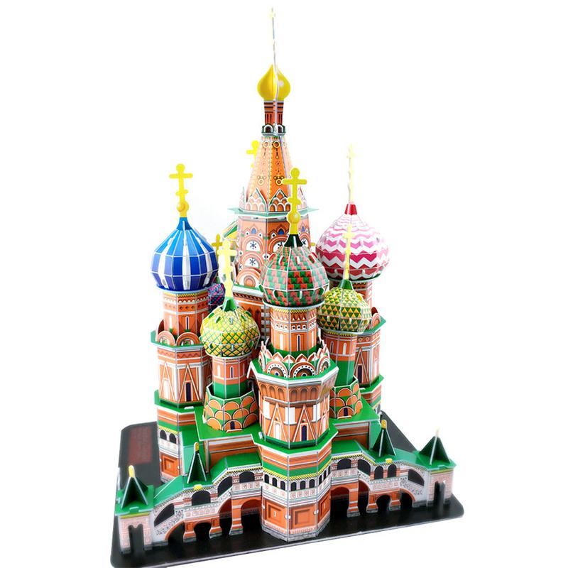 Children's Puzzle Building Puzzle Big Saint Basil's Cathedral 3D Paper Puzzle Educational Toys Christmas Gift
