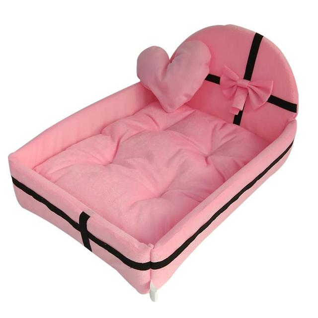 Pet Dog House Dog Bed Nest With Mat Cute Plush Cushion Winter Warm Small Medium Dogs Removable Mattress Cat Bed Dog Puppy Kennel