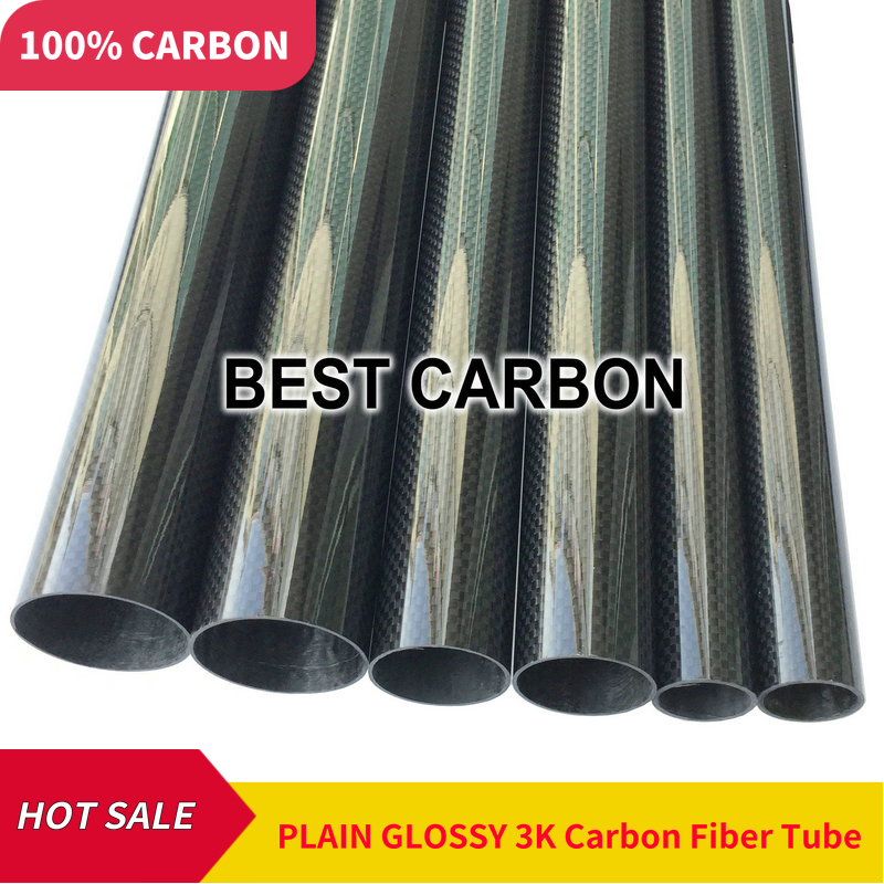 4 pcs of 12mm x 10mm High Quality 3K Carbon Fiber Fabric Wound winded Tube Tail