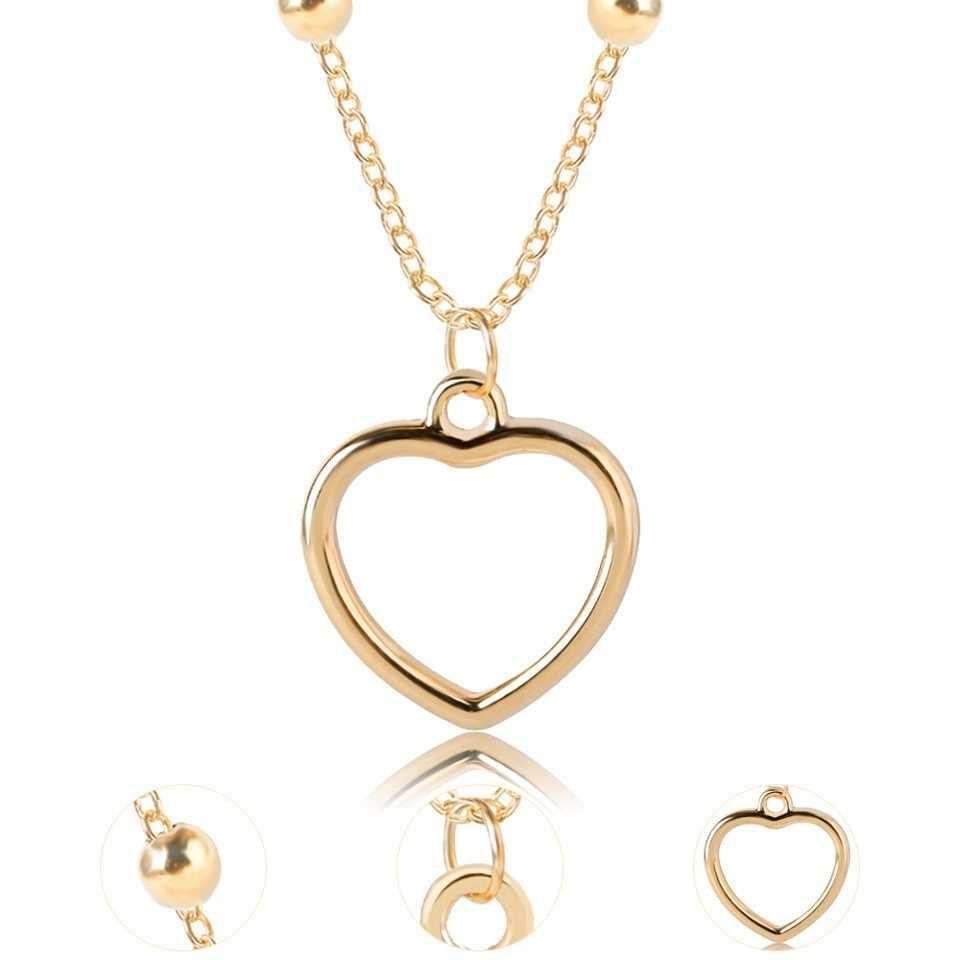 2019 nowy śliczne romantyczny wisiorek naszyjnik hollow wisiorek w kształcie serca naszyjnik wysokiej jakości naszyjnik kobiet modna biżuteria w złotym kolorze
