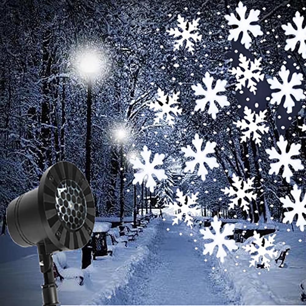 Outdoor Snowflake LED Stage Snow Lights Waterproof Light Christmas Holiday White & RGB Color Lighting party EU UK AU US PlugOutdoor Snowflake LED Stage Snow Lights Waterproof Light Christmas Holiday White & RGB Color Lighting party EU UK AU US Plug