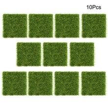 10 шт. искусственная трава газон ремесла микро Пейзаж украшения моделирование растений Ландшафтный зеленый пластик газон