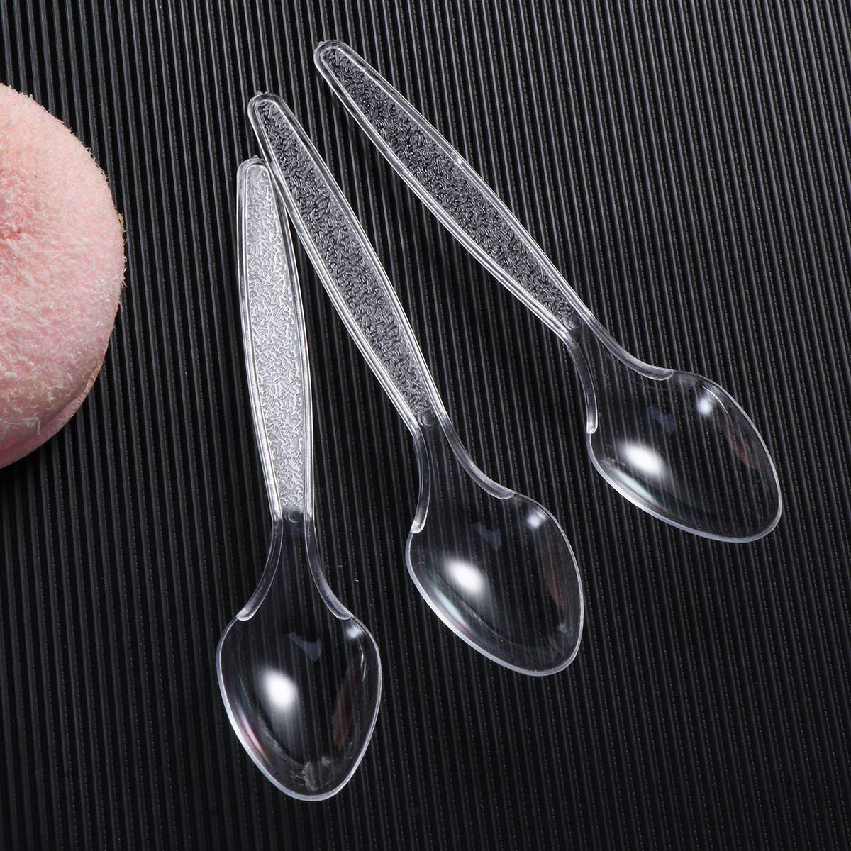 Spoons Disposable Plastic For Fast-Food Restaurant Transparent Utensils