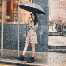 Narrow Waist Fashion Dress Small Floral Chiffon Dress New Ko