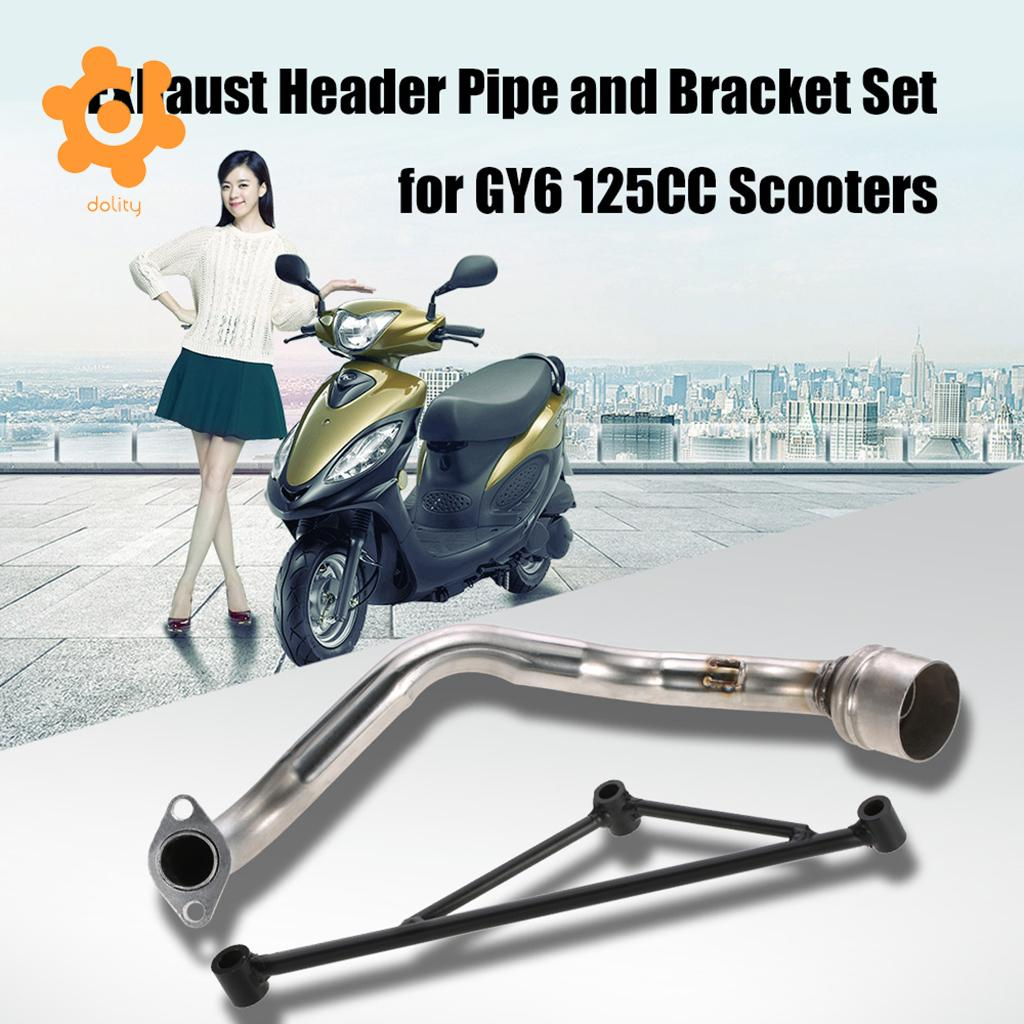 Front Header Muffler Exhaust Pipe Fit for GY6 125CC Engine Motorbike Scooter