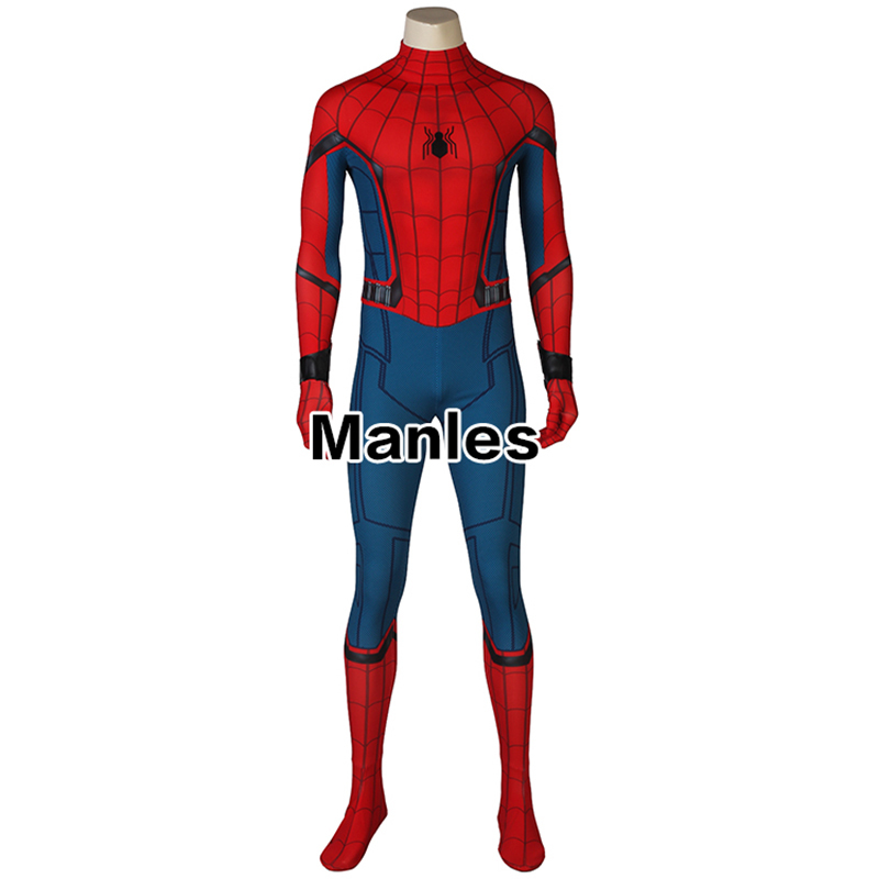 In Stock Spiderman Costume Costume Homecoming Civil War Cosplay Carnival Adult Costumes Man Jumpsuit Halloween Flash