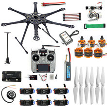6 axis Full AT10II Transmitter HMF S550 Frame GPS APM 2 8 Flight Control Gimbal Mount