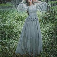 Womens Retro Mori Elegant Fairy Princess Japan Lolita Girls Long Dress Costume