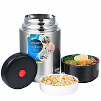 Lunch Box Heated For Office Bento Stainless Steel Japanese Children Food Container For Food 1l School Thermo Lunchbox Tableware