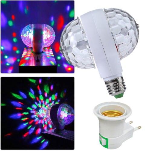 3 W E27 Rgb Kristall Ball Rotating Led Bühne Glühbirnen Disco Party Dj Birne Lampe Projektor Lampen