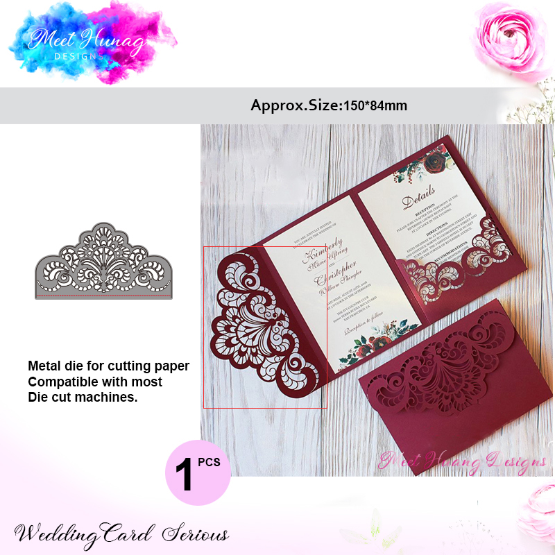 16x8.9cm Lace Christmas Cutting Dies Scrapbooking New Arrival Flower Metal Cutting Dies New 2019 Card Decoration Craft Dies Arts,crafts & Sewing