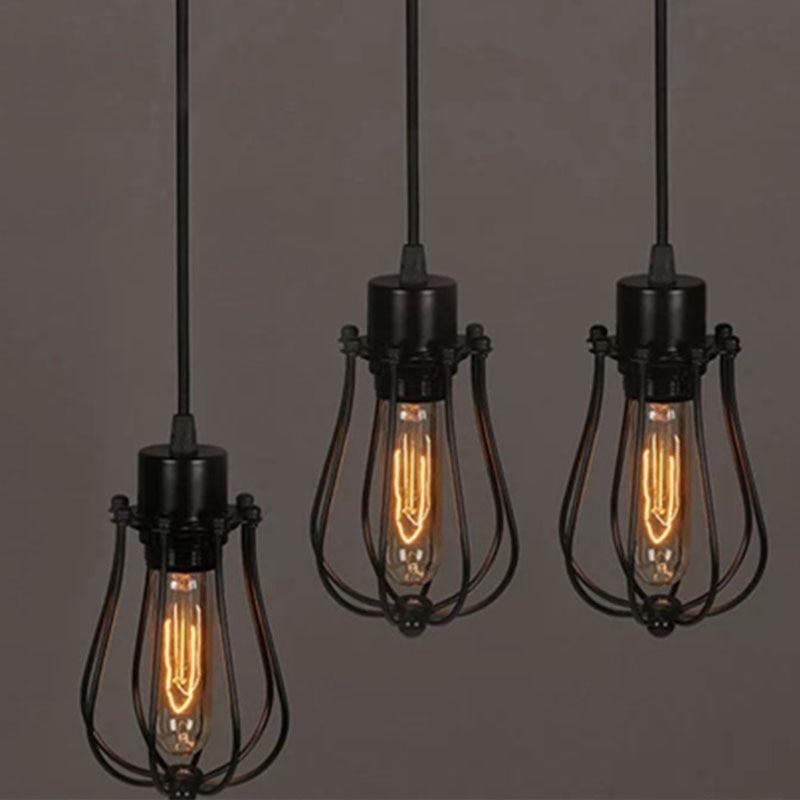 1 Stück Retro Eisen Draht Lampe Schatten Birne Clamp Metall Vogel Net Käfig Klassische Lampe Halter Für Mühe Licht Hause Decor Ausreichende Versorgung