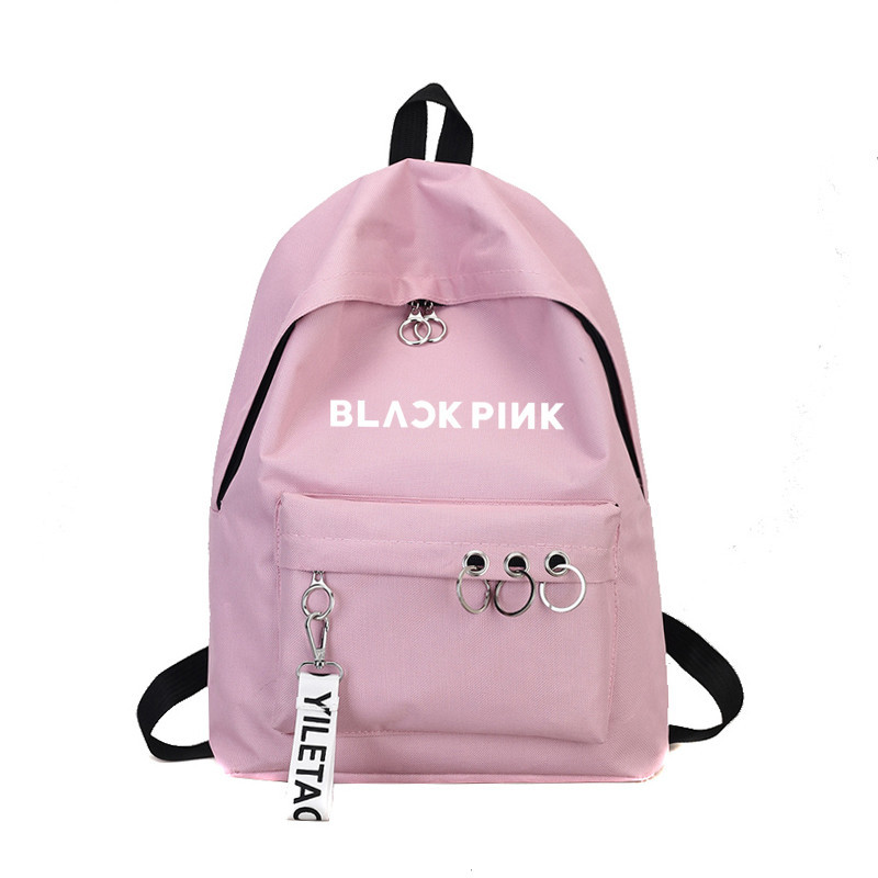 Newest Blackpink Exo Ullzang Backpack Bag Got7 Twice Monsta X Wanna One Stray Kids Schoolbag Txt Backpacks Gifts Sac A Dos Femme in Backpacks from Luggage Bags
