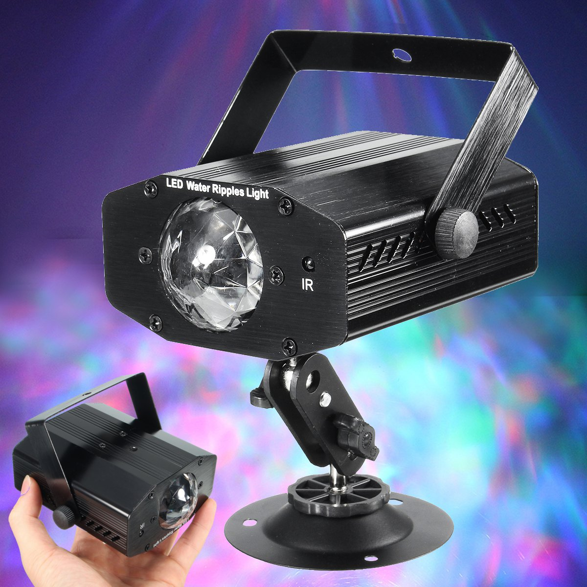 3W RGB 7 Color Remote Control LED Laser Projector Stage Light Water Wave Effect Light Club Bar DJ KTV Disco Party Lamp3W RGB 7 Color Remote Control LED Laser Projector Stage Light Water Wave Effect Light Club Bar DJ KTV Disco Party Lamp