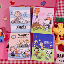 20*4 Pages Lovely Snoopys Cartoon Four-fold Office Note Paper Cute Student Kawaii Stationery Notebook Message Memo Pad
