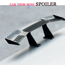 Universal Carbon Fiber Look little Wing Spoiler Mini Characteristic Spoiler Car Tail Decoration(China)