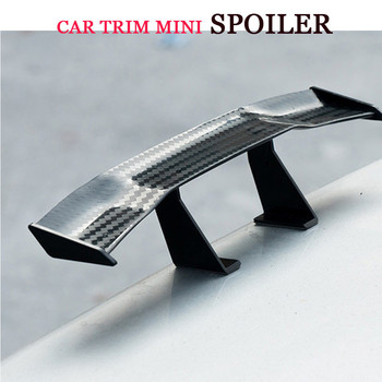 Universal Carbon Fiber Look little Wing Spoiler Mini Characteristic Spoiler Car Tail Decoration image