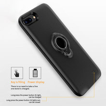 7200mah Battery Charger Cases For Iphone 6 6s 7 8 plus Magnetic Ring Stand Holder Phone Case External Pack Backup Case