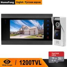 Homefong видео дверной звонок 1200TVL широкоугольная камера безопасности видеодомофон дверной звонок фото видео запись
