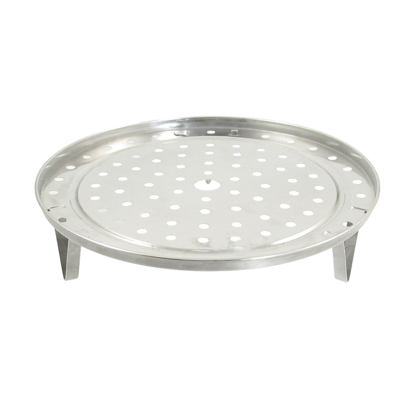 Round Stainless Steel Steaming Rack W Stand 23cm Diameter