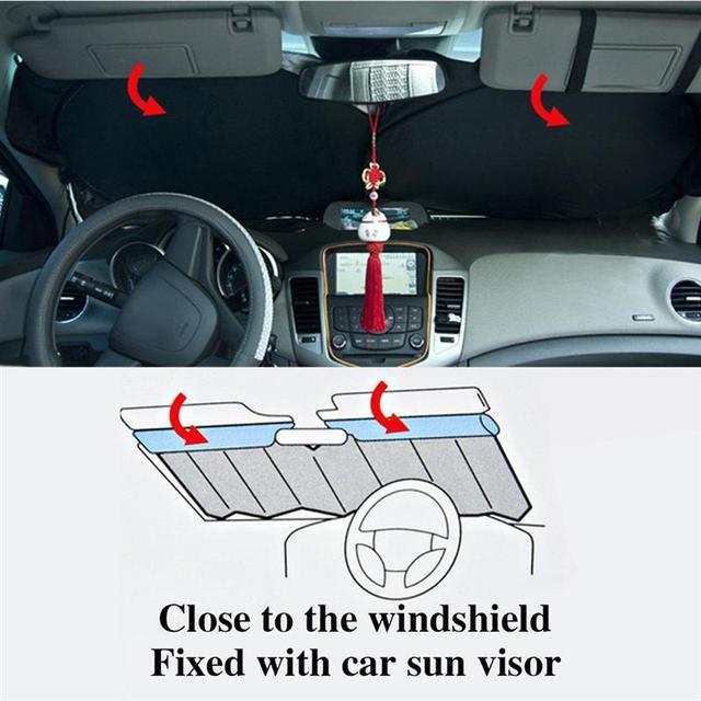 150x70cm Car Sunshade Solar Reflective Silver Front Windowshield Sun Shade car sun protector UV Rays Block Protector
