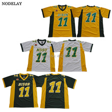 new arrival 76145 29e73 hot bison 11 carson wentz white limited stitched ncaa jersey ...