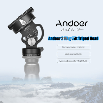Andoer Photography Tripod Head 360° Panoramic With Quick Release Plate For Sirui L10 RRS MH-02 Max. Load Capacity 10kg / 22Lbs