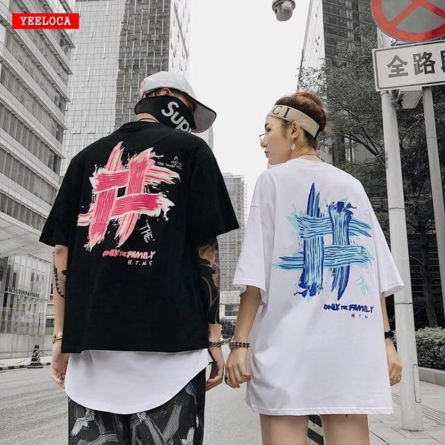 2019 Summer Dropshipping Summer Brand Design Brushed Short-Sleeve Shirt Hip-Hop Couples Men and Women Joker T-Shirt