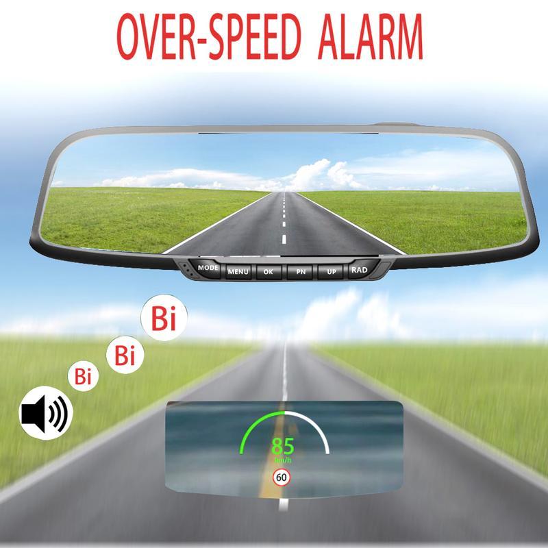 C80 GPS Tela Grande Hud Head Up Velocidade de Exibição Digital Do GPS Do Carro Velocímetro KM/H MPH Bicicleta Da Bicicleta Da Motocicleta
