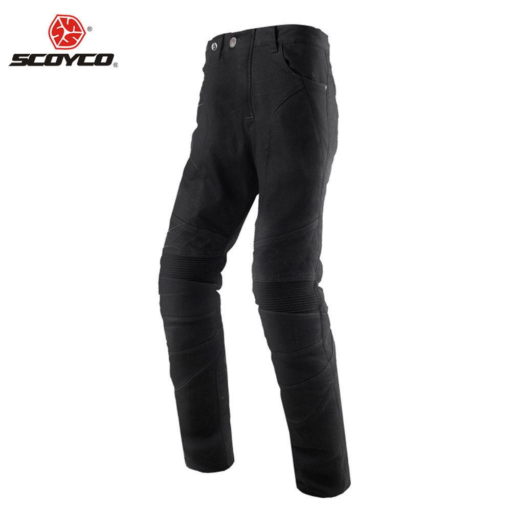SCOYCO Kevlar-fiber Motorcycle Pants Riding Reflective Jeans Biker Protection Trousers Clothing Man Protector Clothes Men Racing