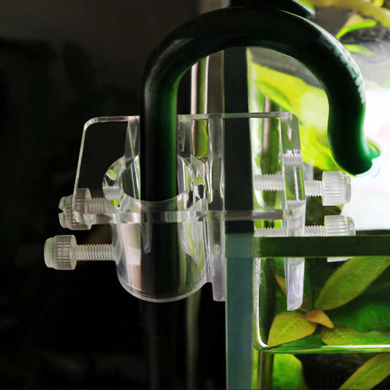 Akuarium Akrilik Filtrasi Selang Dudukan Air Pipa Filter Mount Tabung Ikan Tropis Tangki Bersih Pompa Pemasangan Clamp