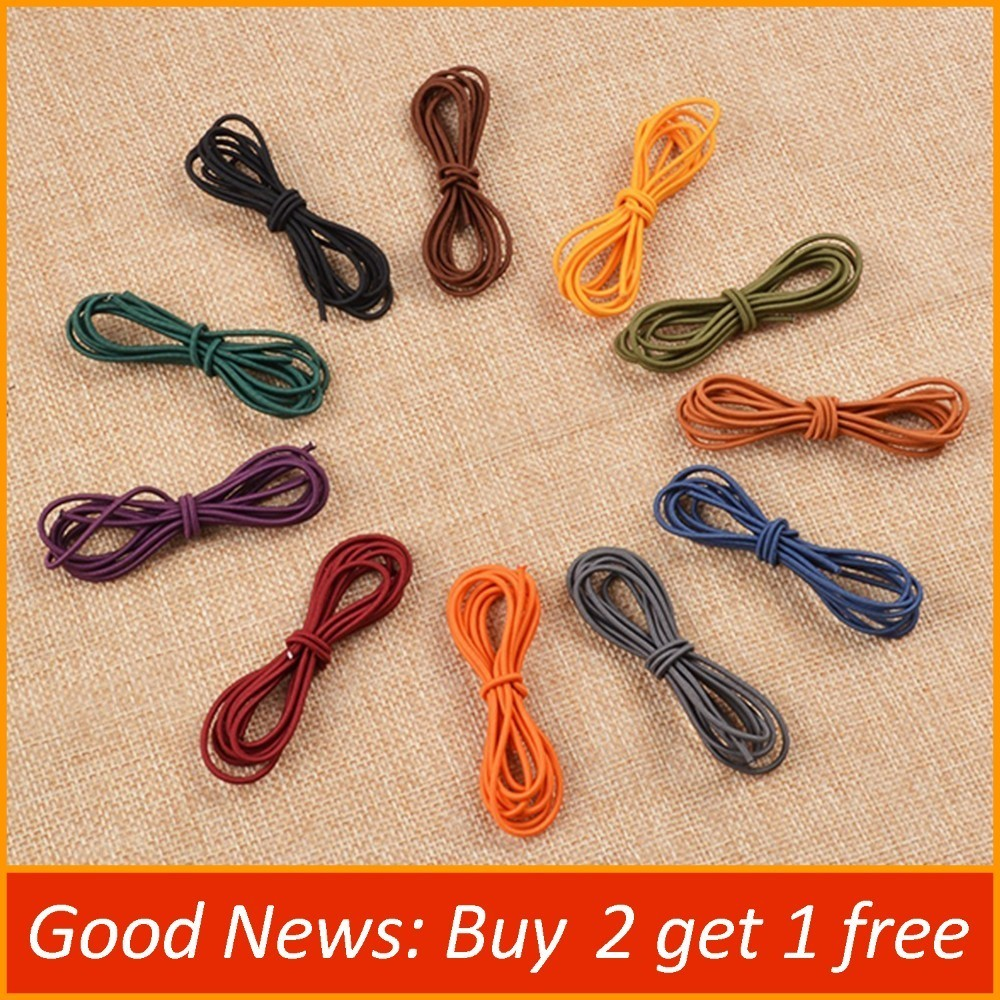 Repair Elastic Rubber Band For Leather Notebook Accessory Elastic String Bungee Cord 1 Meter Length Black Brown Blue Green