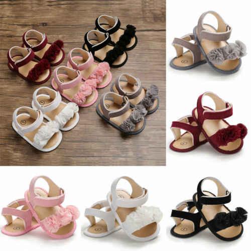 PUDCOCO Newborn Kid Baby Girl Flower Sandals Summer Casual Crib Shoes First Prewalker Girl shoes mini melissa sandals